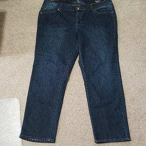 NWT Ashley Stewart Modern Straight Leg Jeans 22